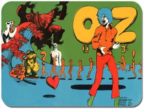 Oz (Magazine) No.15 Cover Mouse Mat. Vintage Undergound Art Culture Mousepad